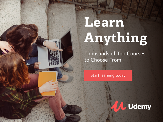 Udemy.com Home page 728x90